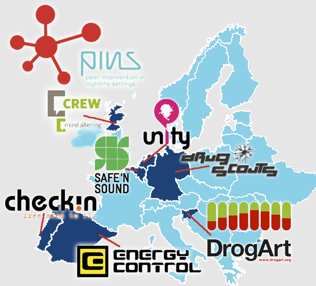 See where all the organisations are from that are active with Connecting PINS